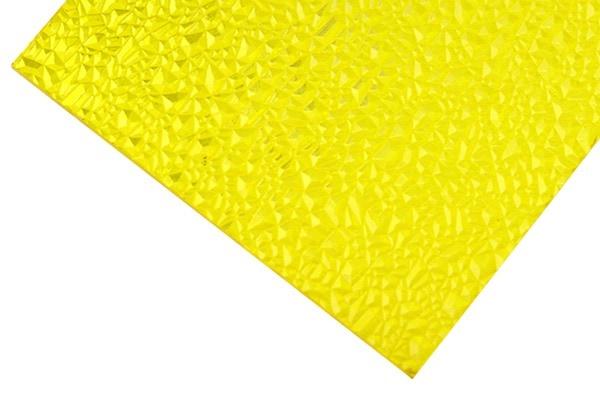Plaque polycarbonate texturée jaune