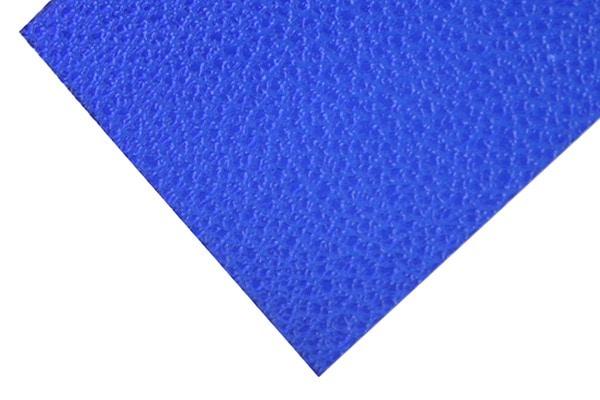 Plaque polycarbonate texturée bleue