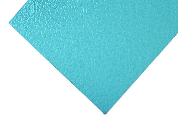 Plaque polycarbonate texturée verte