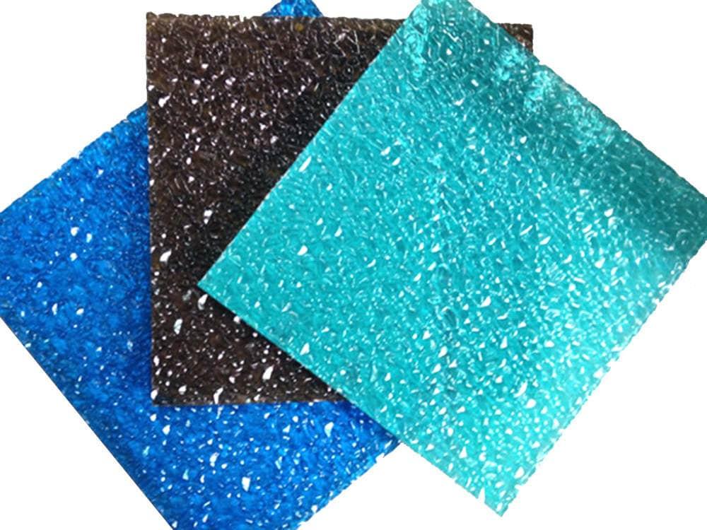 Plaque polycarbonate texturée