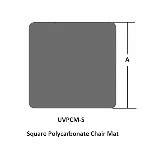 Tapis Protège-sol bureau carré Polycarbonate