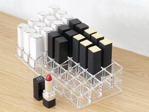 Boîte de maquillage transparente