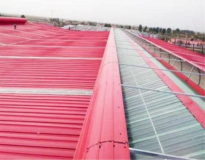 Puits de lumière de toiture de hangar de stockage