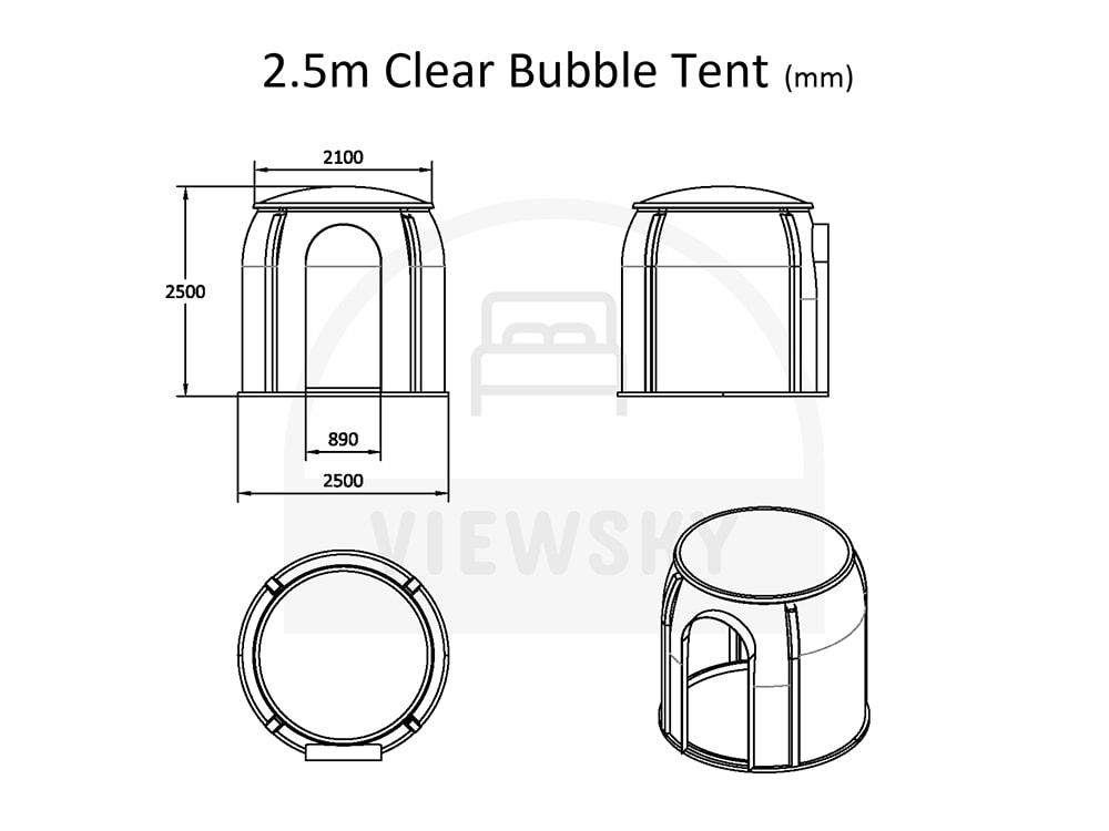 VIEWSKY tente bulle transparente