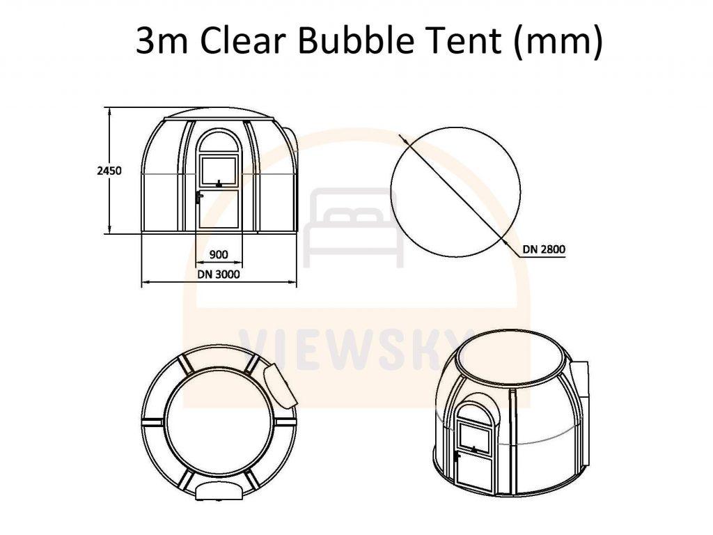 UVPLASTIC tente bulle transparente