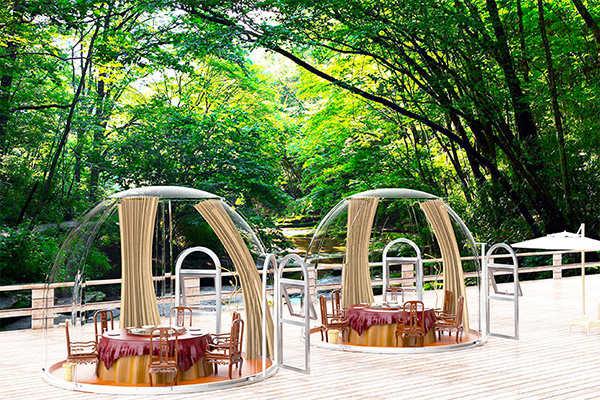 Restaurant bulle à 5m