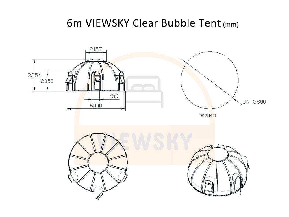 Tente bulle transparente