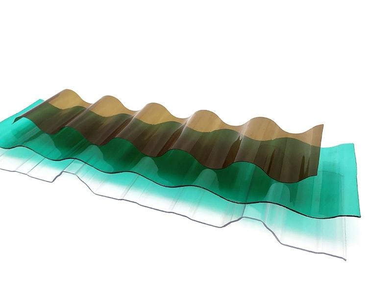 Plaque plastique ondulé