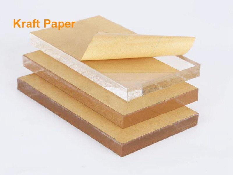 Plaque plexiglass avec Papier kraftPlaque plexiglass avec Papier kraft