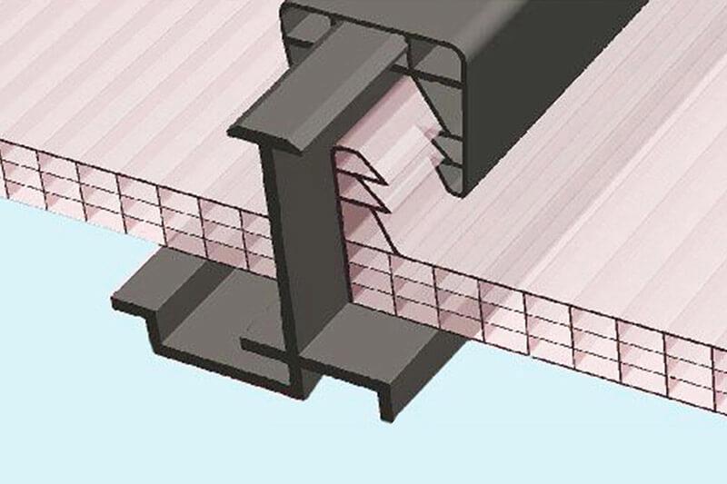 Plaque de toiture polycarbonate