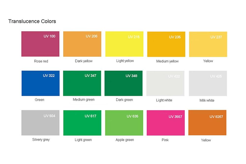 Plaque Plexiglass avec couleurs Translucides
