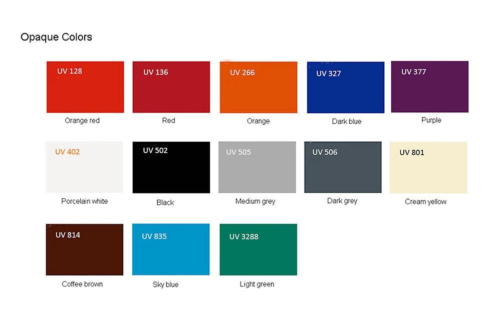Plaque Plexiglass avec couleurs opaques