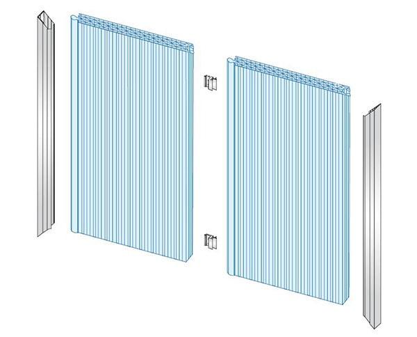 accessoirie du système de façade  polycarbonate
