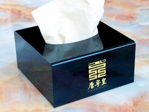 Boîte à mouchoir acrylique