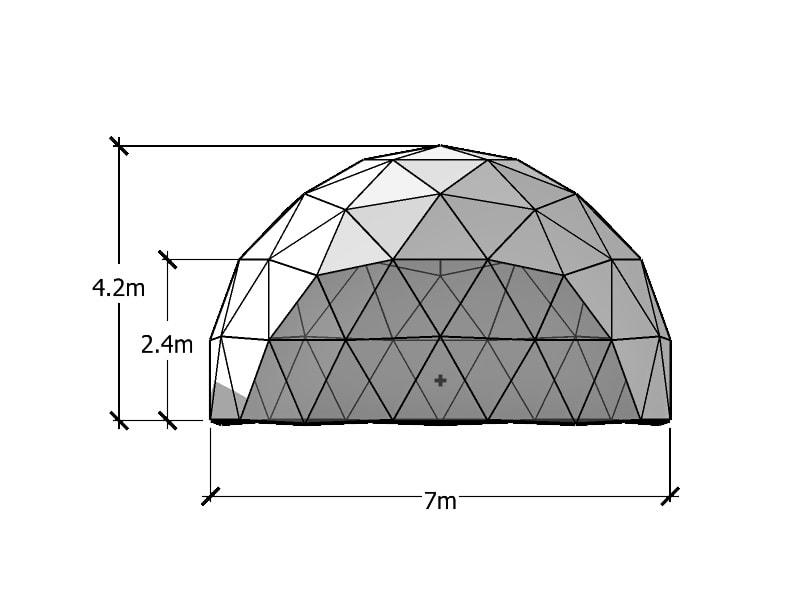 Dôme Géodésique 7m