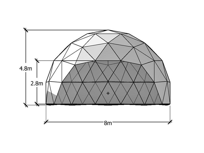 Dôme Géodésique 8m