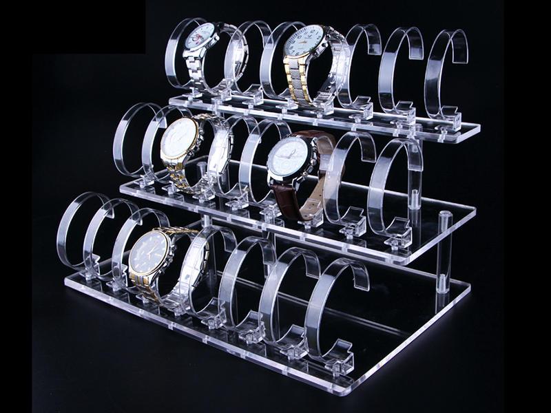 Présentoir de montre acrylique personnalisé