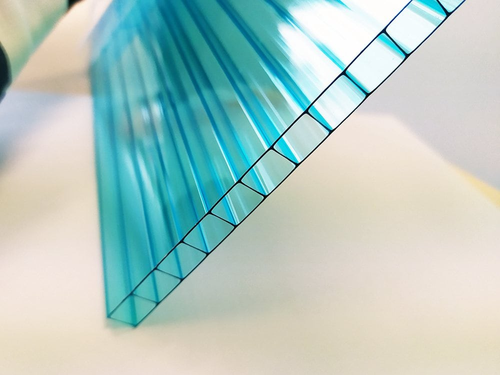 Polycarbonate alvéolaire double paroi bleu
