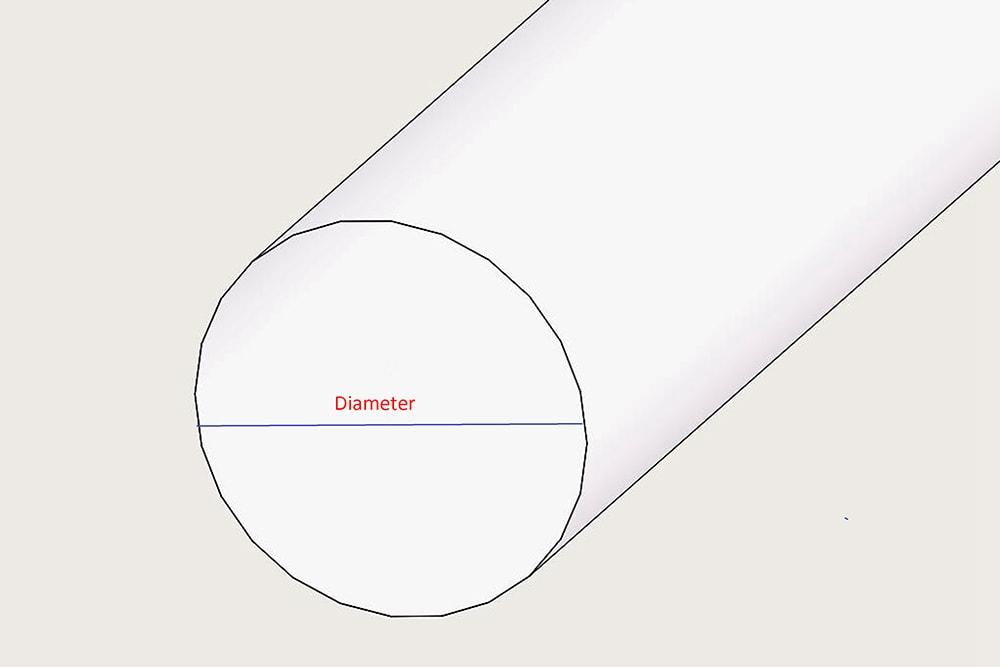 Diamètre de la barre acrylique ronde