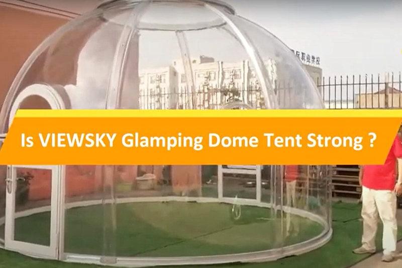 Test de résistance de tente bulle