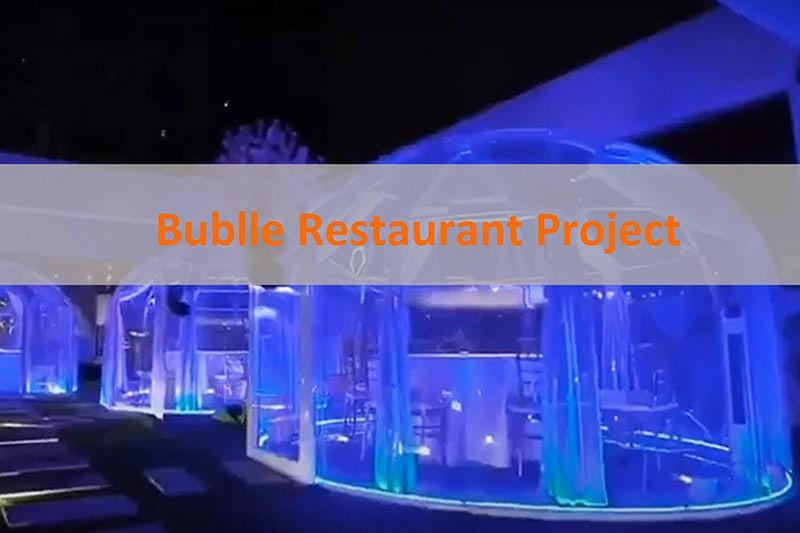 salle de restaurant tente bulle