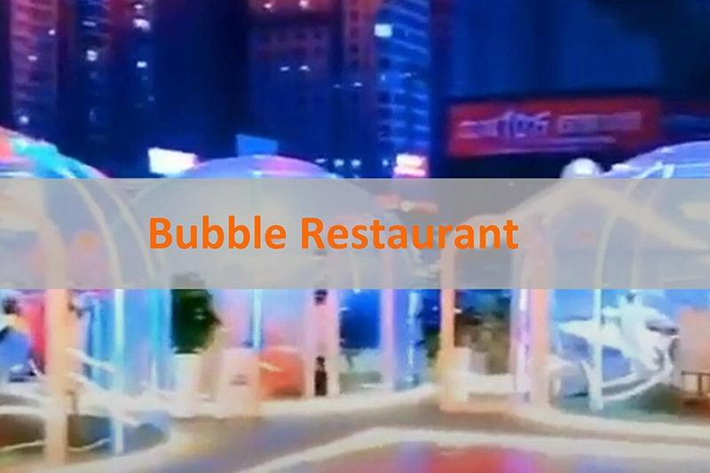 Restaurant à bulles