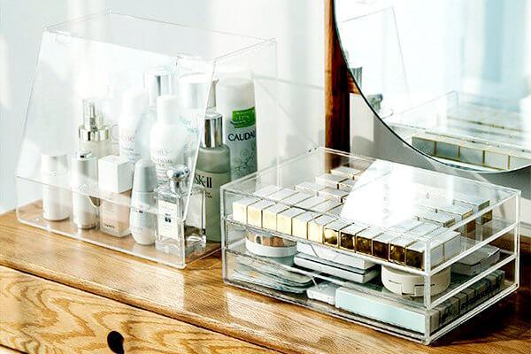 Boîte de rangement maquillage Plexiglass