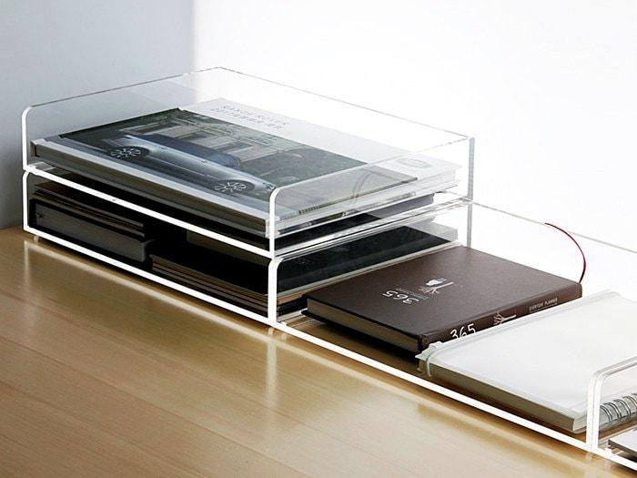 Boîte de rangement plexiglass