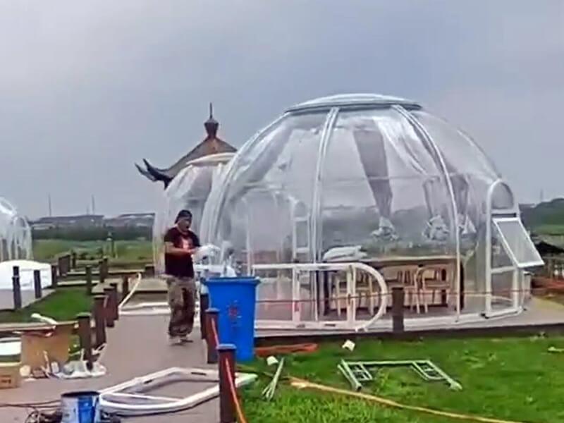 Installiation tente bulle