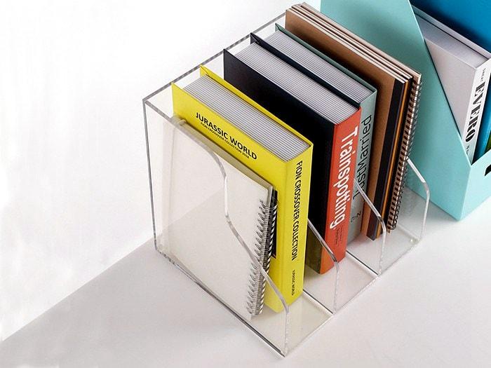 Boîte de rangement bureau plexiglass