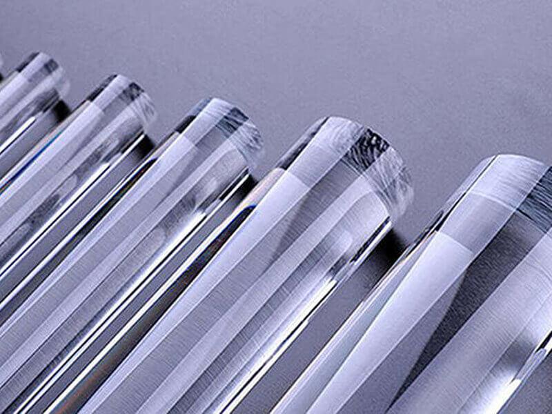 Barre acrylique transparente