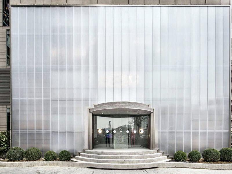 Façade Polycarbonate pour Mur rideau