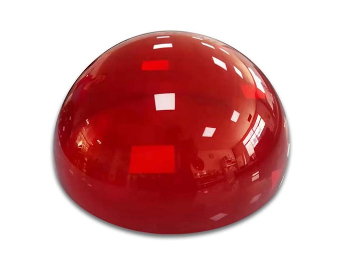 Dôme plexiglass rouge