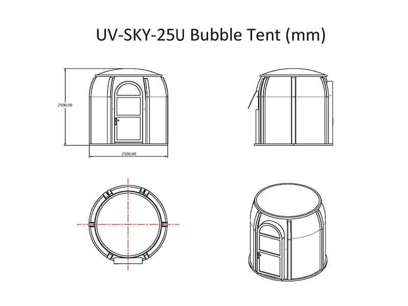 UV-SKY-25U Tente bulle
